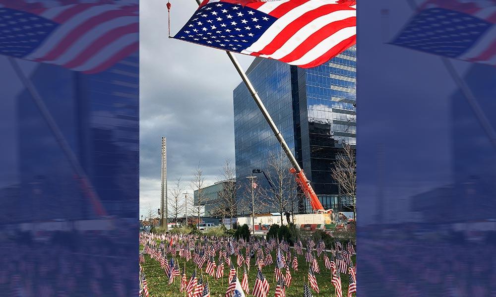 Mass Fallen Heroes Memorial Flag Garden