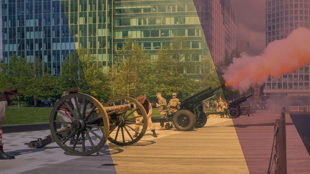 MFH Meorial cannons firing