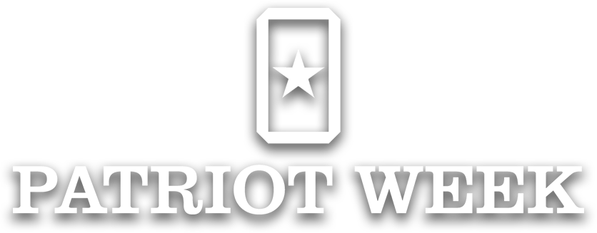 Patriot Week (white logo with shadow)